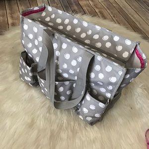 Thirty One polka dot diaper bag